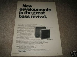Fisher XP-15B,XP-12 Bass Revival Speakers Ad from 1968!