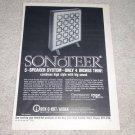 Rek-O-Kut Sonoter Speaker Ad, 1960, RARE, Article