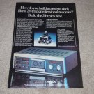 Revox B710 Cassette Ad, 1981, Color, Article, Beautiful
