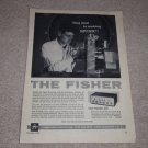 Fisher 400 Preamp Ad, 1958, Tube! Specs,Article, RARE!