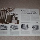 ADC-18,505,404,303a Speaker Ad, 1966, 2 pgs,Specs,Info