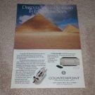 Counterpoint SA-11 Pre Amplifier Ad, Tubes! 1989