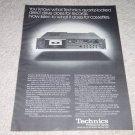 Technics RS-M85 Cassette Deck,Pro Series,specs, 1978