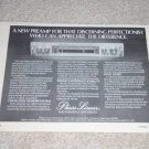 "Phase Linear 3000 series II Preamp Ad, Nice! 6""x8, 1978"