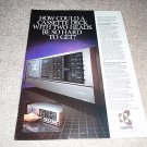 Kyocera D-801 Cassette Deck Ad from 1982