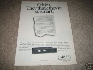 Carver TFM Series Ad from 1992,TFM-15 in ad