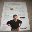 Polk CS1000p Center Speaker Ad from 1999, subs built in