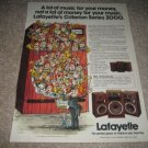 Lafayette 2002A,2003A,2000 series Speakers Ad from 1979