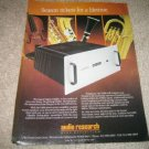 Audio Research D400 HD Amp Ad from 1992,perfect!