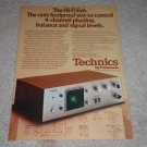 Technics Hi-Fi EYE RARE Ad, 1973, mint! Article,Awesome