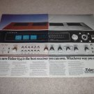 Fisher 634 QUAD Receiver Ad,1974,specs,2 pgs, very RARE