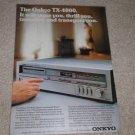 Onkyo TX-4000 Receiver Ad, 1981,Article,1 page,color