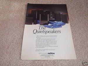 Revox Quietspeakers Ad from 1988,Entire Line, Beautiful