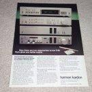 Harman Kardon AD,hk770 Amp,hk705 Cass,hk725 Pre Ad,1981