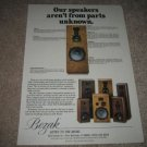 BOZAK Speakers Ad from 1986,Entire Line