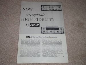 Pilot SP-215 Preamp Ad,SM-244 Amp Ad,Article,specs,1958