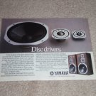 "Yamaha NS-75T Speaker AD from 1985, Very Rare! 6""x8"""