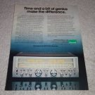 Sansui G-6000 DC Receiver Ad, 1978,specs, color