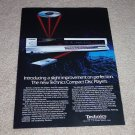 Technics SL-P2 CD Player AD from 1985, Beautiful!