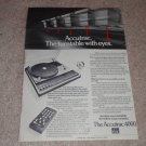 ADC Accutrac 4000 Turntable Ad, 1977,Article,rare!
