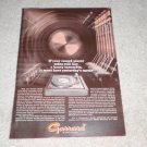 Garrard SL 95 Turntable Ad, 1968, Article,Rare Color Ad