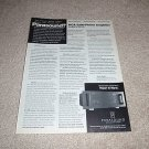 Parasound HCA-2200 John Curl Design, Ad from 1992,1 pg
