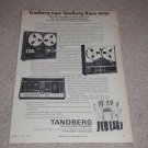 Tandberg 9000x Open Reel,3300x,TCD-310 Cassette Ad,1973