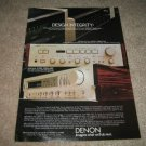 Denon PMA-750,DRA-400 Amp/Receiver Ad from 1982