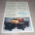 Velodyne HGS, ULD Series Ad from 1990, review,1 page