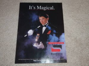 Svetlana SV811 Series Tube Ad, 1996, 1 page, RARE!