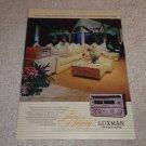 Luxman Ad,Burt Bacharach, T240,L430,K240 Amp, Cass,Tune