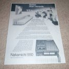 Nakamichi 550 Portable Cassette Re-print Ad, article