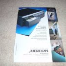 Meridian 586 DVD player Ad from 1997