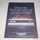 Tandberg TR-2075 Receiver Ad, 1975, Color, Beautiful!