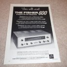 Fisher 600 TUBE Receiver Ad from 1960, very rare! #2