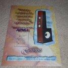 Genesis APM-1 Rare Speaker Ad from 1998, Arnie Nudell