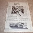 Teac X-Series Open Reel Ad,X-10,X-7,1 page, 1980