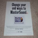Santana Master Sound Ad, 1994, Article, Rare Ad!