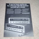 Pioneer SX-1500TD, SX-990 Receiver Ad, 1971, Article