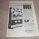 Roberts 800x Open Reel Deck Ad from 1970,features,nice!