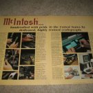 McIntosh Ad from 1990,Amplifier, Company History