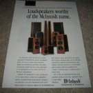 McIntosh Speakers Ad from 1994,Entire Line,nice!
