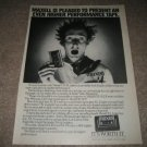 Vintage Maxell AD from 1984, near mint
