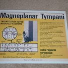 Audio Research Magneplanar Tympani Ad,1973,Article,Spec