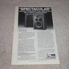 "Ohm L Speaker Ad, 1978, article, 6""x9"""