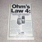 """Ohm F Speaker AD, 6""""x9"""", Amazing Speaker!"""