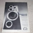 Wharfedale E Speaker AD from 1978, specs, Nice Ad!