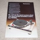 Technics SL-Q3 Turntable Ad, 1978, Article