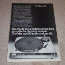 Technics SL-1600mk2 Turntable Ad, 1976, Article