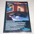 Onkyo DX-320 CD Player Ad, 1986, Article, Rare Ad!